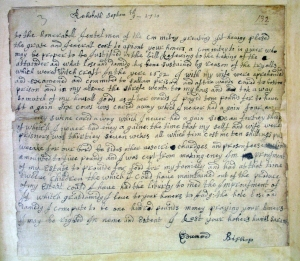 Edward Bishop restitution letter