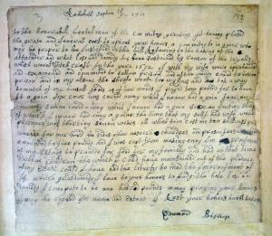 Edward Bishop restitution letter