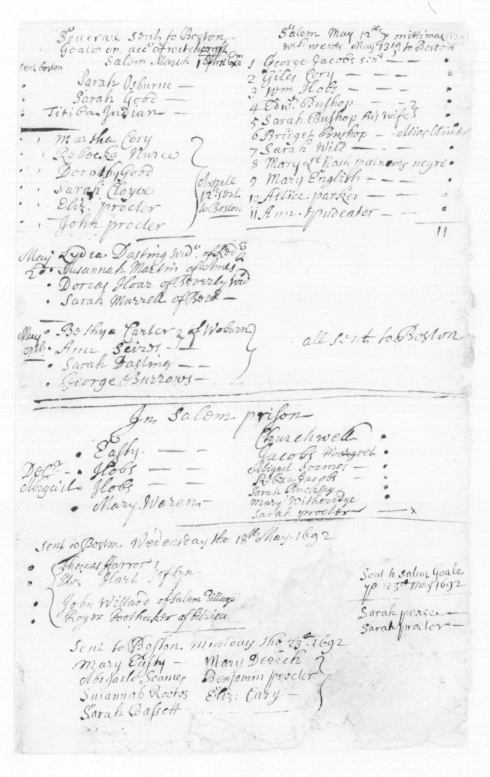 Census of Prisoners and dates of transfers. Edward and Sarah were transferred to Boston on May 13th